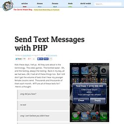 Send Text Messages with PHP