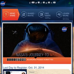 Send Your Name to Mars - Mars Exploration Program
