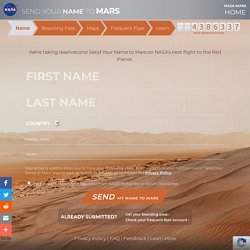 Send Your Name to Mars: Future Mission