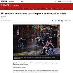 Un sendero de murales para alegrar a una ciudad en crisis - BBC News Mundo
