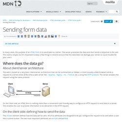 Sending form data - Web developer guide