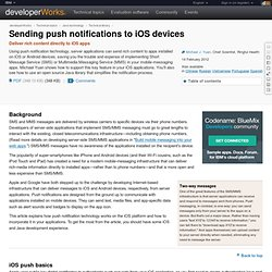 Sending push notifications to iOS devices