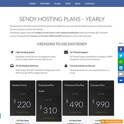 Sendy Hosting Plans - Yearly - EasySendy