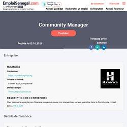 Offre d'emploi Sénégal : Community Manager - Dakar