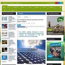 Le Sénégal se dote de sa première centrale solaire à Bokhol