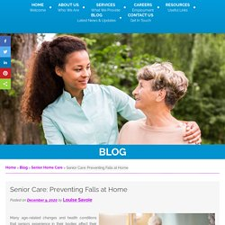Senior Care: Preventing Falls at Home