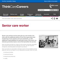 Senior care worker