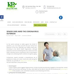 Senior Care Amid the Coronavirus Outbreak