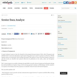 Senior Data Analyst