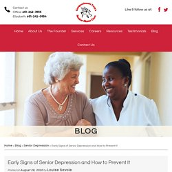 Early Signs of Senior Depression and How to Prevent It