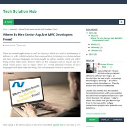 Where To Hire SeniorAsp.NetMVC Developers From? - Tech Solution Hub