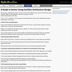 A Guide to Senior Living Facilities Architecture Design