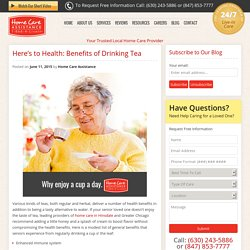Senior Health Benefits of Tea