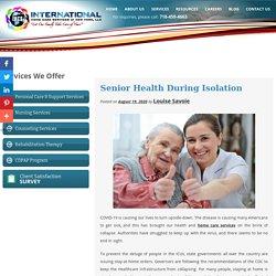 Senior Health During Isolation