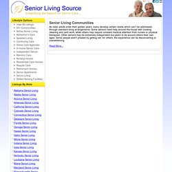 Senior Housing Options | SeniorLivingSource.org