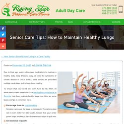 Senior Care Tips: How to Maintain Healthy Lungs