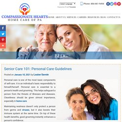 Senior Care 101: Personal Care Guidelines