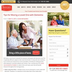 How to Move a Senior Parent or Relative with Dementia