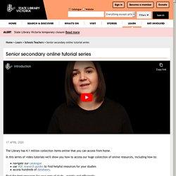 Senior secondary online tutorial series