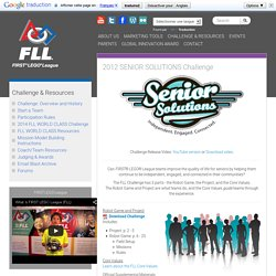 2012 SENIOR SOLUTIONS Challenge