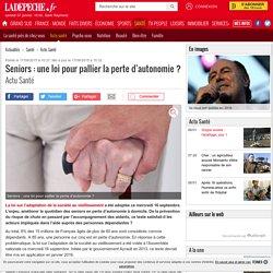 Seniors : une loi pour pallier la perte d'autonomie ? - 17/09/2015 - ladepeche.fr