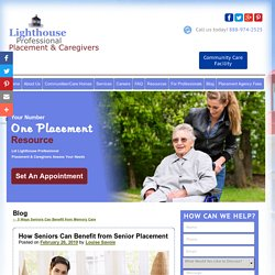 How Seniors Can Benefit from Senior Placement