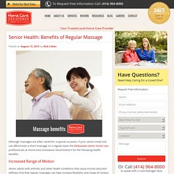How Seniors Can Benefit from Regular Massage