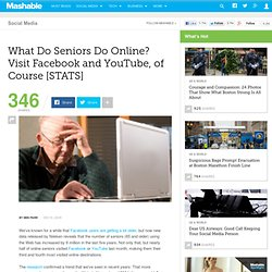 What Do Seniors Do Online? Visit Facebook and YouTube, of Course