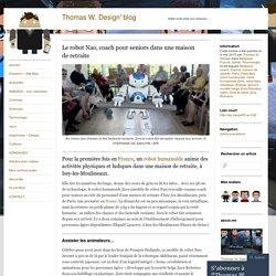 Le robot Nao, coach pour seniors dans une maison de retraite