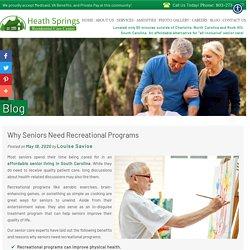 Why Seniors Need Recreational Programs