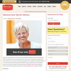 How Seniors Should Care for Dentures