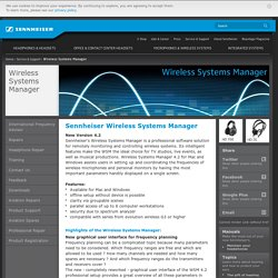Sennheiser - Headphones & Headsets - Microphones - Integrated Systems