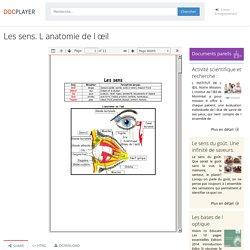 Les sens. L anatomie de l œil - PDF Free Download