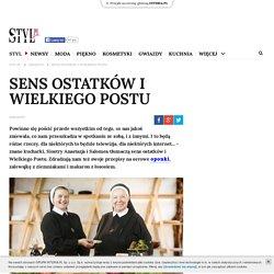 Sens ostatków i Wielkiego Postu - styl.pl