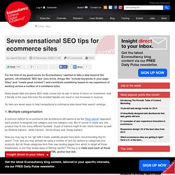 Seven sensational SEO tips for ecommerce sites | Blog | Econsult