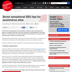 Seven sensational SEO tips for ecommerce sites