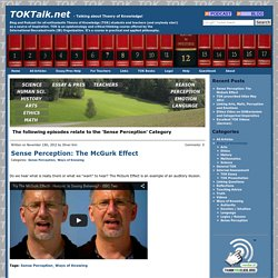 TOKTalk.net Sense Perception