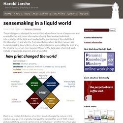 sensemaking in a liquid world
