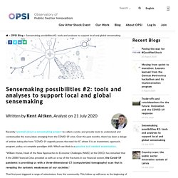 Mélodie - Sensemaking possibilities #2: tools and analyses to support local and global sensemaking - Observatory of Public Sector Innovation Observatory of Public Sector Innovation