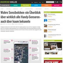 Wahre Sensibelchen: ein Überblick über wirklich alle Handy-Sensoren - auch über kaum bekannte - Androidmag.de
