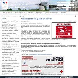 Sensibilisation aux gestes qui sauvent / Actualités / Accueil - Les services de l'État dans la Somme