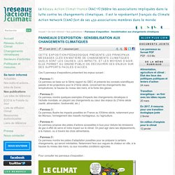 Sensibilisation aux changements climatiques