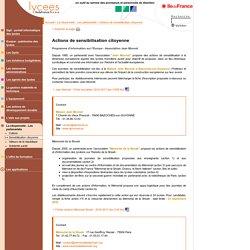 Lycées de l'Ile de France : Actions de sensibilisation citoyenne