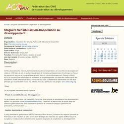 Stagiaire Sensibilisation-Coopération au développement