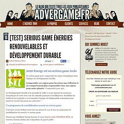 Un serious game associé à un programme de sensibilisation au développement durable