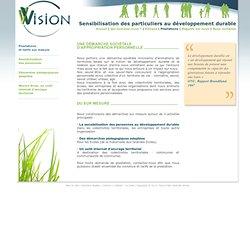 sensibilisation des particuliers au développement durable