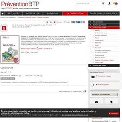 Chute de hauteur - Prévenir et protéger / Mémentos / Sensibilisation / Explorer par produit / Documentation / OPPBTP Prévention BTP