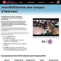 Un module sur Internet : les formations d'e-enfance