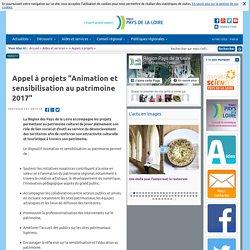 """Appel à projets """"Animation et sensibilisation au patrimoine 2017"""""""