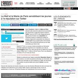 La Maif et la Mairie de Paris sensibilisent les jeunes à l'e-réputation sur Twitter